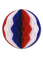 Tissue Ball Decoration - Red, White & Blue