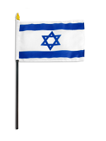 Israel Table Flag with Stick and Base