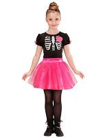 Ballerina Skeleton Girl Costume