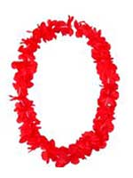 Hawaiian Island Lei Silky Flower Garland - Red