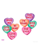 "14"" Candy Heart Cut-Outs pack of 4"