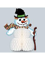 Vintage Christmas Snowman Centerpiece