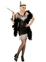 Black Flapper (Dress & Headband With Feather)