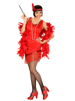 RED FLAPPER GAL (DRESS GLOVES HEADBAND)