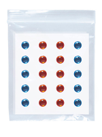 Adhesive Eye Gems Decorations - Blue/Amber - Set of 40