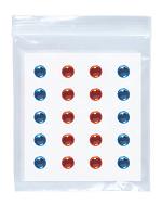 Adhesive Eye Gems Decorations - Blue/Amber - Set of 40