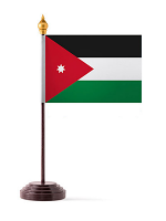Jordan Table Flag with Stick and Base
