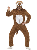 Lion Costume All-in-One Jumpsuit with attached Hood