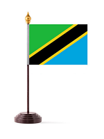 Tanzania Table Flag with Stick and Base
