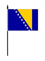 Bosnia Herzegovina Table Flag with Base and Stick