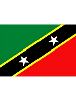 St. Kitts And Nevis/Kittian/Nevisian Flag 5ft x 3ft (100% Polyester) With Eyelets For Hanging