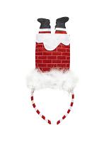 Santa In Chimney Headband