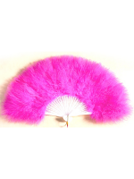 Feathered Fan - Hot Pink