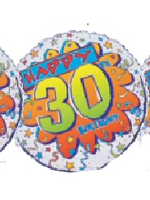 Foil Balloon HAPPY 30th BIRTHDAY BANG  * 1 only in stock *