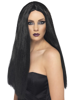 Witch Wig, Long, Black