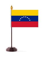 Venezuela Table Flag with Stick & Base