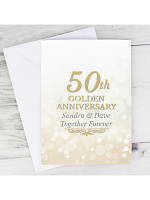 Personalised 50th Golden Anniversary Card