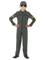 Aviator Costume, Khaki, Jumpsuit with Badges