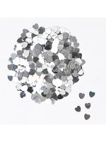 Silver Heart Confetti 14gm