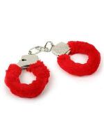 Plastic And Pink Fur Love Cuffs/ hand cuffs (1)