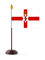 Northern Ireland Table Flag with Stick and Base