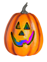 Halloween Pumpkin W/Colour Changing Flashing Led Light
