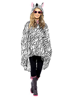 Zebra Party Poncho