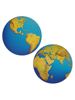 Planet Earth Cutout Decoration
