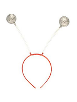 Silver Glitter balls Wiggley Headboppers  (1)