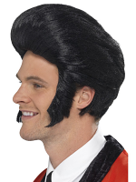 50'S Quiff King Wig,Black