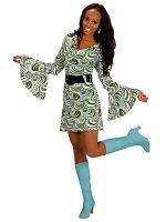 GROOVY 70'S LADY DRESS - WAVES