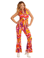 GROOVY 70'S LADY JUMPSUIT - ORCHIDS