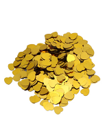 Gold Heart Confetti 14gm