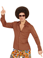 GROOVY 70'S MAN SHIRT -BROWN