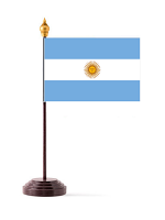 Argentina Table Flag with Base and Stick