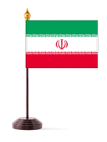 Iran Table Flag with Stick and Base