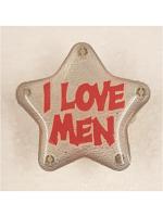 Flashing Star Badge  - I Love Men