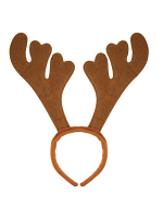 Reindeer Antlers Brown Felt