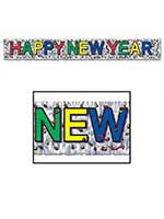 "Metallic Happy New Year Fringe Banner 8"" x 5'"