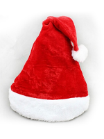 Santa Plush Hat With Fur Trim