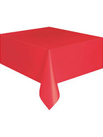 Bright Red Plastic Tablecloth