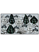 Sparkling Silver New Years Eve Pack For 25 People
