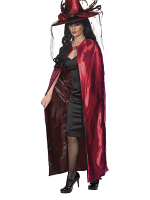 Reversible Cape, Red and Black