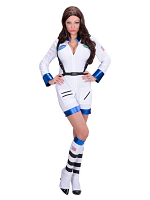White Astronaut Lady (Jumpsuit Boot Covers)