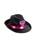 Black Velvet Party Girl Fedora