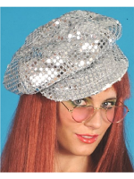 Disco Sequin Hat Silver