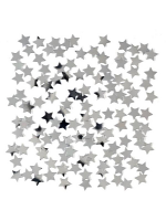 Mini Silver Star Confetti 14gm