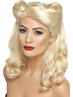 40'S Pin Up Wig, Blonde,Blonde