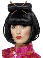 Oriental Lady Wig,Black