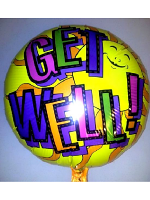 "Foil Balloon 'GET WELL SOON' Sun 18"" (Requires Helium)"